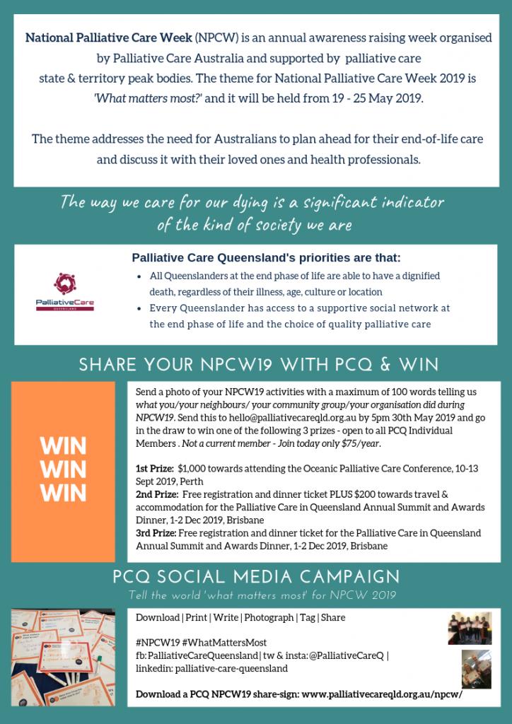 National Palliative Care Week | Palliative Care QLD