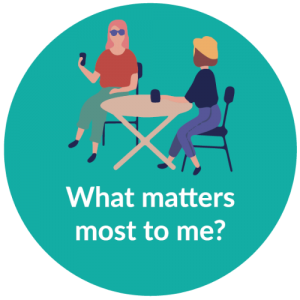 Website bubble_what matters most to me
